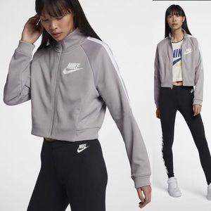 Nike Sportswear N98 Grey Cropped Jacket